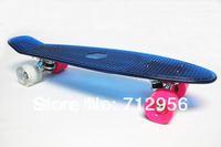 "free shipping 22"" penny clear skateboard rasta 22"" plastic complete transparent blue penny long skateboard"