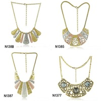 new fashion African jewelry 2014 alloy plated choker necklace mix style 8pcs/lot wholesale free shipping