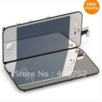 Plating Mirror Front LCD Digitizer Full Assembly For iPhone 4S + Back Housing