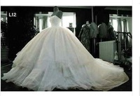 Custom New 2012 Large Bridal High-quality Wedding Gown/Whtie/Ivory Wedding Dress