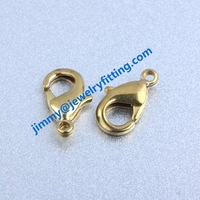 904# 18.5mm raw brass larger  lobster clasp claw clasp jewelry findings  accesories wholesale price shipping free