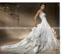 Wedding Dresses Bridal Prom white or ivory Custom Size Large Wedding Dress New