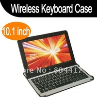 Free Shipping!  New Aluminum Bluetooth Keyboard Dock Case for Samsung Galaxy Tab10.1 P7500 P7510, Wholesale
