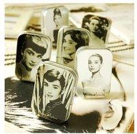 Favorites Collection!6 typesl! Cheap Iron Cases/mini Tin storage box/Earring Matchbox/Audrey Hepburn Gift box
