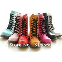 Best selling!! Martin summer boots lace up Great Britain leather shoes woman boot Free shipping 1pair