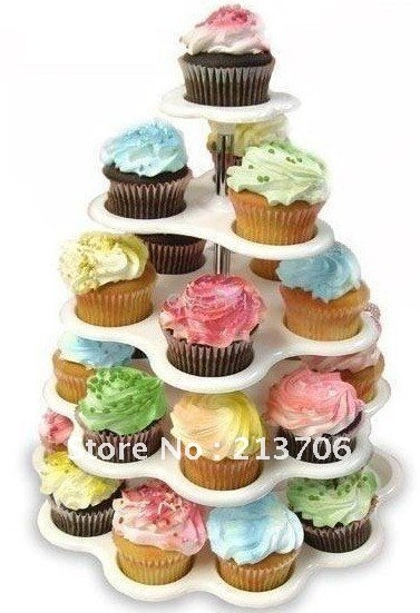 AS SEEN ON TV free shipping 5 Tier Cupcake Stand Cake D