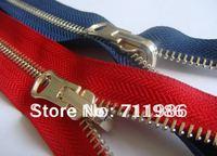 Custom size & colour ,whole sale separating zipper, #5 reversible zipper,light gold tooth