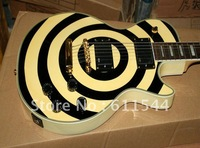 Free Shipping In Stock Zakk Wylde G Electric Guitar Black and Cream High Quality Best Selling HOT