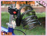 free shipment best price for 12*120cm cable alarm lock for bicycle lock cable lock