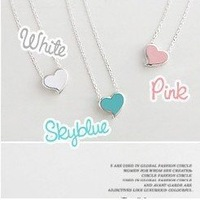 Min.order is $5 (mix order)Free Shipping,Sweet Heart Chain,Short Clavicle Necklace(N150)