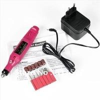 Free Shipping - Electric Pen-Shape Nail Art File Drill + 6 Bits