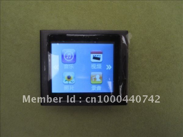 "NEW ! G 6th clip mp3 MP4 player 16GB 1.8"" FM, TEXT reader, Audio recorder free ship 4pcs(China (Mainland))"