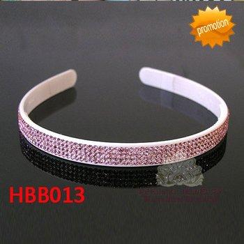 Four rows pink crystal plastic hairband 4-row rhinestone headband fashion plastic hair jewelry 60pcs/lot free shipping