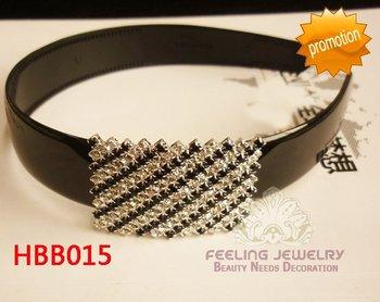 Wide plastic hair band rhinestone plastic hairband wedding plastic hairwear 60pcs/lot assorted styles free shipping