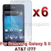 6X Ultra Clear LCD Screen Protector Cover for Samsung Galaxy S II 2 S2 I9100