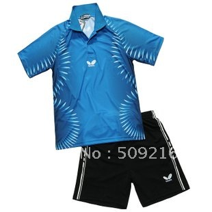 wholesale! 2012 Butterfly Man's Badminton /table tennis shirt and shorts polo: red /blue /green