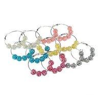 Браслет из бисера Dscount 60% $0.78/pcs, Shamballa Bracelet, 7 pcsresin rhinestone beads, mixed colors, 20pcs/lot