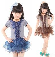 Child skirt female child one-piece dress princess dress summer child skirt kid's skirt 11562