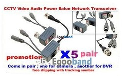 HOT!!! 5x Multi-purpose Video Balun / CAT5 - BNC Converter Transfer Video/ Audio/ Power Free shipping(China (Mainland))