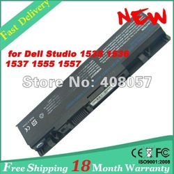 Laptop Battery For Dell Studio 1535 1536 1537 1555 1557 1558 KM887 MT264 MT275 MT276 RM803 WU946 WU959 + Free Shipping(China (Mainland))