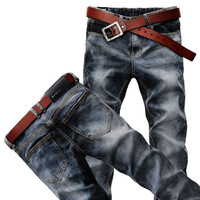 FREE SHIPPING! Retail and Wholesale! New Fashion Men's Jeans Trousers Korean version Style Straight Leg (6919) W28-36