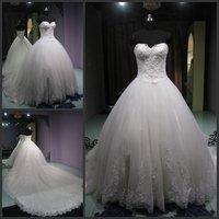2012 New Arrivals Ball Gown Organza Floor Length Off Shoulder Custom Made Cheap Wedding Dress/Wedding Gown/Bridal Wedding Dress