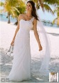 NEW! Custom Made One Shoulder Chiffon Gown with Floral Appliques Style Bridal Gown Wedding Dresses V3398