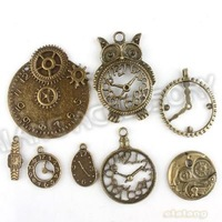 New Promotion Assorted Charms 24pcs/lot Antique Bronze Plated Alloy Pendant Jewelry Findings 142732