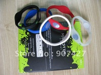 Hot selling ! 100pcs/lot  Silicone  hologram  energy Bracelet with retail box