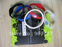 Hot selling ! 100pcs/lot  Silicone  hologram  energy Bracelet with retail box