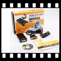 USB 2.0 UGA to DVI VGA HDMI Multi Display Converter Adapter Up to 1920*1080 resolution