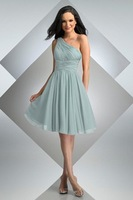 hot selling pleated chiffon short dress, prom dress, bridesmaid