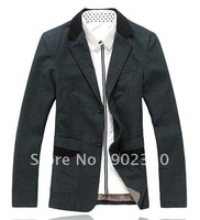 free shipping 2012 New casual men's suit jackets dress blazer suits cotton coat  top quality ,black, red ,L-XXXL