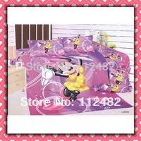 Cotton children 3pcs Single Bedding Set Minnie Mouse Kid Bedding Free Shipping