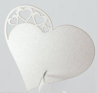 Heart Wedding Reception Party Table Decoration SEAHORSE Die Cut Place Cards(China (Mainland))