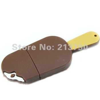 Free Shipping Chocolate Ice Cream  USB flash drive icecream USB flash disk1GB 2GB 4CB 8GBreal Full Capacity retail
