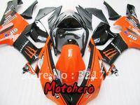 For KAWASAKI Ninja ZX6R 636 05-06 ZX-6R 2005-2006 6R 05 06 ZX 6R 2005 2006 orange black fairing kit + windscreen