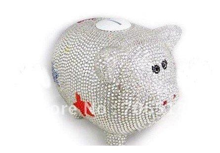 livre transporte de luxo 3d piggy glitter bling banco o dinheiro para ...