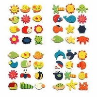 Super cute Wooden animal fridge magnets korea lovely style cartoon Wooden fridge magnet 4 series 120pcs/lot