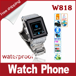 W818 Quad Band Dual Camera Bluetooth Java 1.5 inch Touch Screen Cell Phone Wristwatch(China (Mainland))