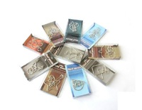 Free shipping of 10pcs set metal puzzle novelty gifts  Metal Ring Brain Teaser Puzzle IQ Test Toy