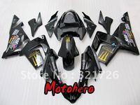 Full Fairing for ninja ZX-10R 2004 2005 04 05 ZX10R 2004-2005 zx 10r 04-05 all black motorcycle fairing kit + free windscreen