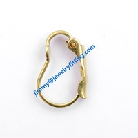 2014 New fashion jewelry findings brass lever back earring clip Screw back earrings clip earring fitting  B shape