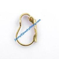 2014 New fashion jewelry findings brass lever back earring clip Screw back earrings clip earring fitting  B shape