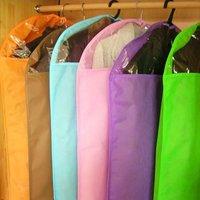 Wholesale retail foldable non-woven fibrice clothing storage bag organizer for suit clothes overcoat jack wind coat size S,M,L