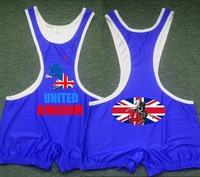 2013 UK can Custom Wrestling Singlet Athlete for Weight lifting bodywear for man Tank Top