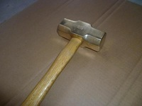 brass hammer sledge , 3p hammer with wooden handle ,non sparking safety tools