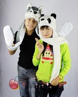 Kawaii hat scarf set cartoon style fashion hats 10 animals