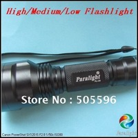 Paralight H/M/L PL-C8  3 Mode XM-L T6 1000 Lumen LED Flashlight, Free Shipping