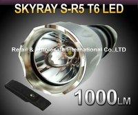 R5 T6 Flashlight,5 Mode 1000lm CREE XM-L T6 LED Flashlight+pouch